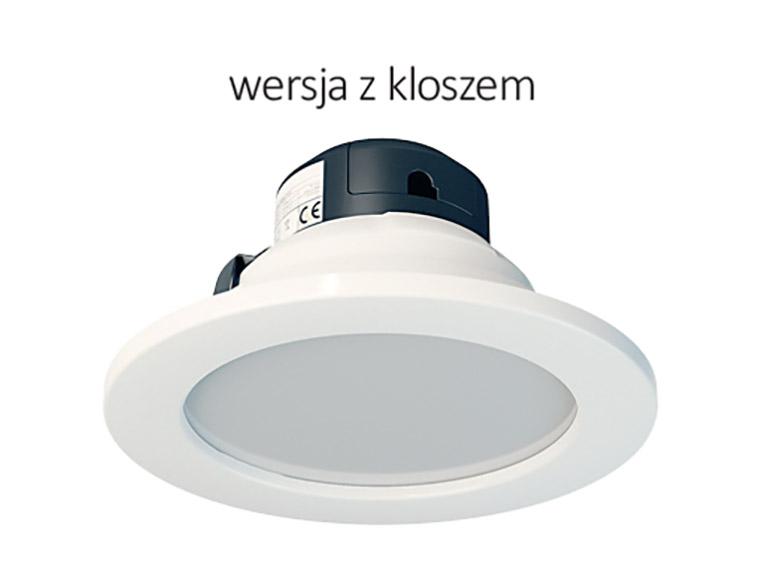 micoled oświetlenie led biuro downlight zkloszem