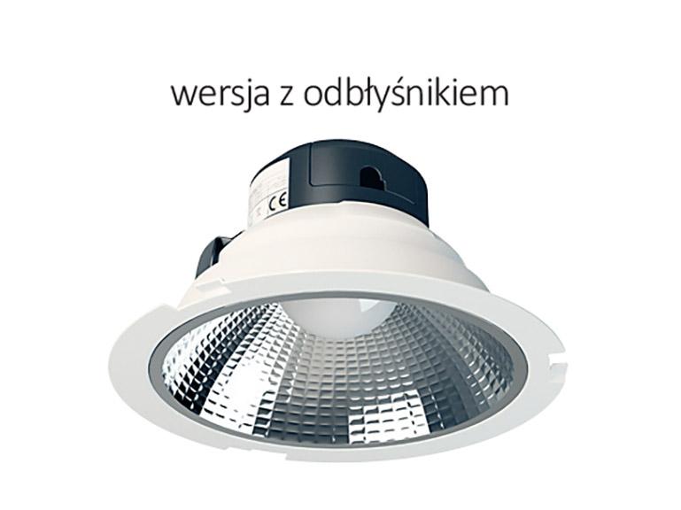 micoled oświetlenie led biuro downlight z odbłyśnikiem 60 stopni
